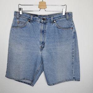 Vintage Levi's 550 Denim Jean Shorts Orange Tab